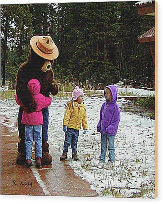 Wood Print featuring the photograph Smokey And The Girls by Roena King