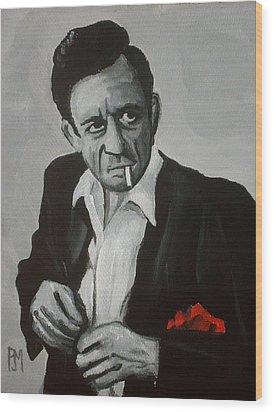 Smokin Johnny Wood Print by Pete Maier
