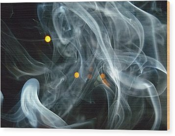 Wood Print featuring the mixed media Smoking Painting by Beto Machado