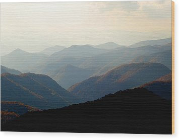 Smoky Mountain Overlook Great Smoky Mountains Wood Print by Rich Franco