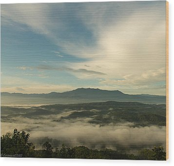 Smoky Mountain Rise   Wood Print by Glenn Lawrence