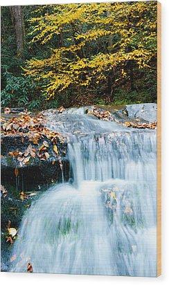 Smoky Mountain Waterfall Wood Print