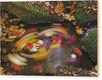 Smoky Mountain Whirlpool Wood Print by Rich Franco