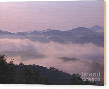 Smoky Sunrise Wood Print