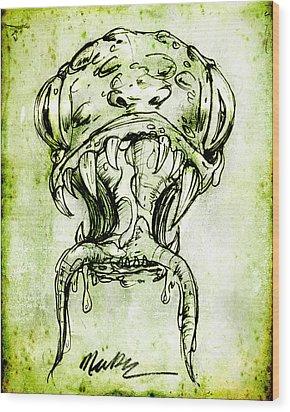 Snake Monster  Wood Print