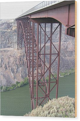Wood Print featuring the photograph Snake River Bridge At Twin Falls by Rand Swift