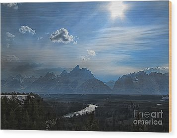 Snake River Overlook Wood Print by Clare VanderVeen