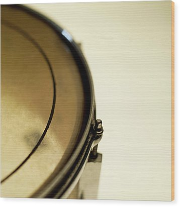 Snare Drum, Close-up And Cropped Wood Print by Stockbyte
