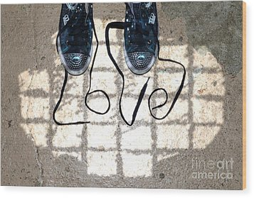 Sneaker Love 1 Wood Print by Paul Ward