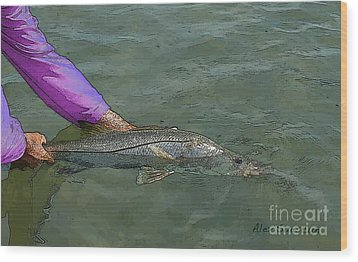 Snook Revival Wood Print by Alex Suescun