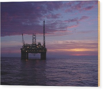 Snorre Sunset Wood Print