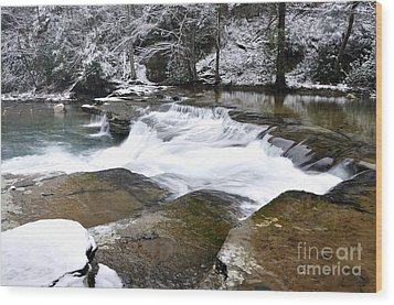 Snow Along The Back Fork Of Elk River Wood Print by Thomas R Fletcher