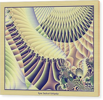 Snow Capped Mountains And Verdant Valleys Fractal 156 Wood Print by Rose Santuci-Sofranko
