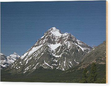 Snow Covered Mountain Wood Print by Amanda Kiplinger