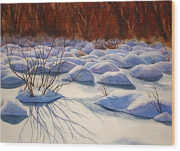 Snow Mounds Wood Print by Daydre Hamilton