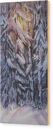 Snow Splattered 1 Wood Print by Mohamed Hirji