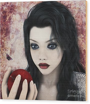 Snow White Wood Print by Jutta Maria Pusl