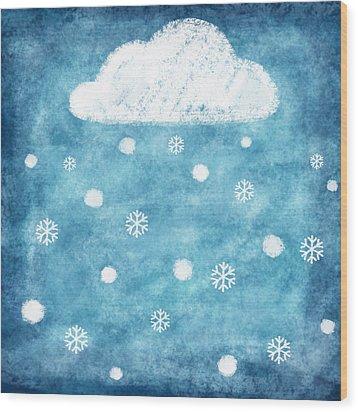 Snow Winter Wood Print by Setsiri Silapasuwanchai
