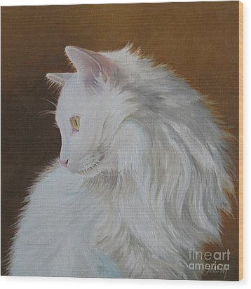 Wood Print featuring the painting Snowball by Jindra Noewi
