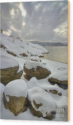 Snowcapped Wood Print by Idaho Scenic Images Linda Lantzy