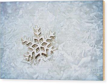 Snowflake Wood Print by Darren Fisher