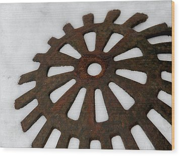 Snowflake Wood Print by Odd Jeppesen