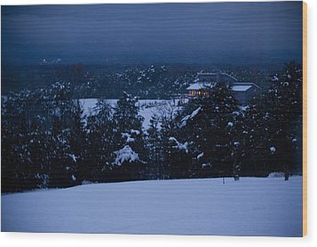 Snowy Night Wood Print by Christina Durity