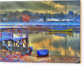 Snowy River Sunset Wood Print by Jane James