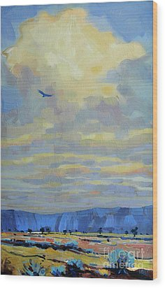 Soaring Wood Print by Donald Maier