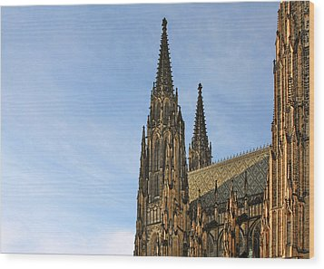 Soaring Spires Saint Vitus' Cathedral Prague Wood Print by Christine Till