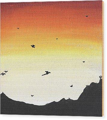 Soaring Sunset 2 Wood Print by Jera Sky