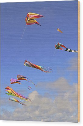 Soaring With The Clouds Wood Print by Pamela Patch