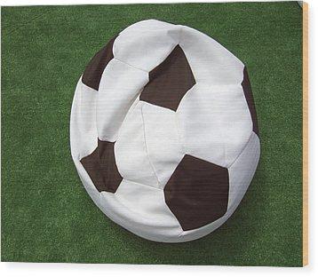 Soccer Ball Seat Cushion Wood Print by Matthias Hauser