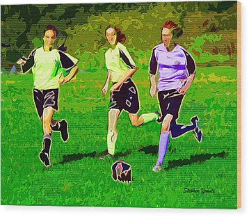 Soccer Wood Print by Stephen Younts