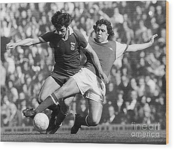 Soccer Tackle, 1976 Wood Print by Granger