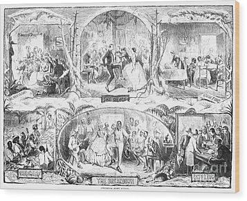Social Activities, 1861 Wood Print by Granger