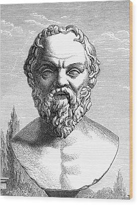 Socrates, Ancient Greek Philosopher Wood Print by