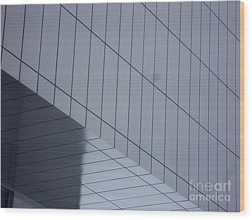 Soft Gray Glass Wood Print