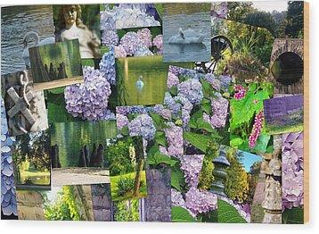 Soft Lavender Wood Print by Sherry  Kepp