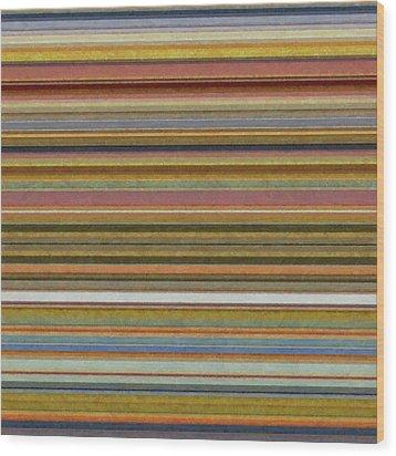 Soft Stripes L Wood Print by Michelle Calkins