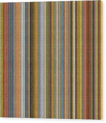 Soft Stripes Ll Wood Print by Michelle Calkins
