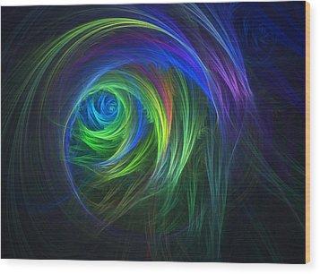 Soft Swirls Wood Print by Lyle Hatch