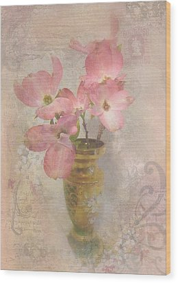 Softly Blooming Wood Print by Cindy Wright