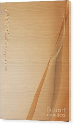 Softly Ebbing Wood Print by Vicki Ferrari Photography