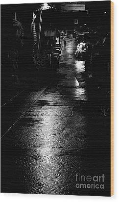 Soho Noir Wood Print by Dean Harte