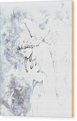 Solace Angel Wood Print by Lisa Buchanan