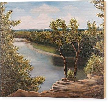 Solado Creek Wood Print by Patti Gordon