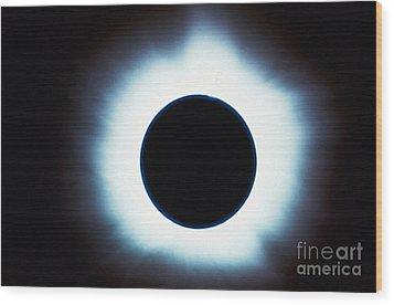 Solar Eclipse Wood Print by Stocktrek Images