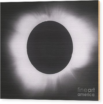 Solar Eclipse With Outer Corona Wood Print by Science Source