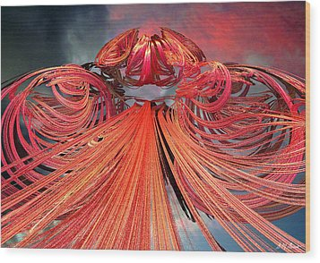 Solar Flare Wood Print by Michael Durst